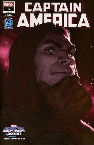 Captain America Vol 9 #6 Cover B Variant Marko Djurdjevic Fantastic Four Villains Cover