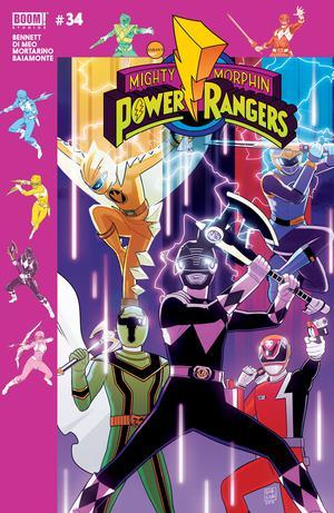 Mighty Morphin Power Rangers (BOOM Studios) #34 Cover B Variant Jordan Gibson Preorder Cover