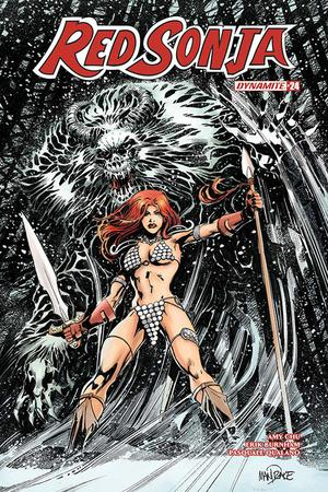 Red Sonja Vol 7 #24 Cover C Variant Tom Mandrake Cover