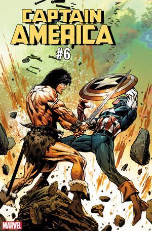 Captain America Vol 9 #6 Cover C Variant Butch Guice Conan vs Marvel Heroes Cover