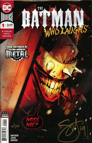 Batman Who Laughs #1 Cover E DF Gold Signature Series Signed By Scott Snyder