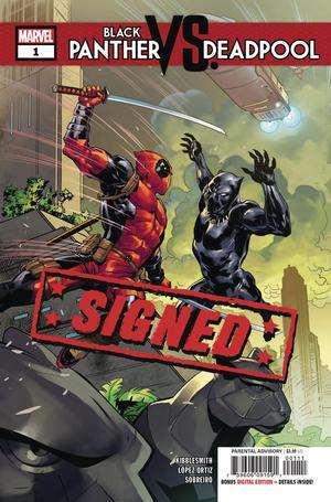 Black Panther vs Deadpool #1 Cover H Regular Ryan Benjamin Cover Signed By Daniel Kibblesmith