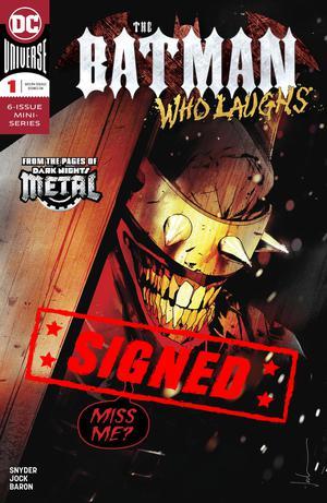Batman Who Laughs #1 Cover K Regular Jock Cover Signed By Scott Snyder
