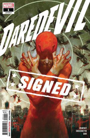 Daredevil Vol 6 #1 Cover I Regular Julian Totino Tedesco Cover Signed By Chip Zdarsky