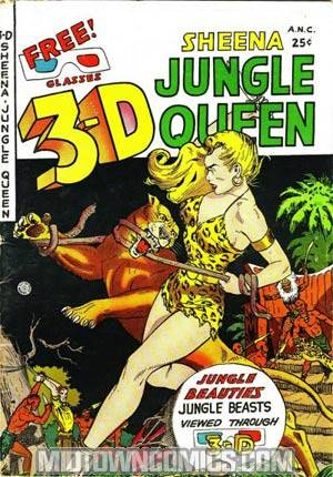 3-D Sheena Jungle Queen #1