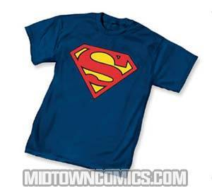 Superman Symbol Navy T-Shirt Large