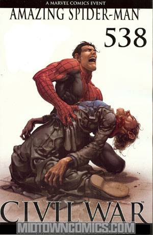 Amazing Spider-Man Vol 2 #538 Incentive Clayton Crain Variant Spoiler Cover (Civil War Tie-In)