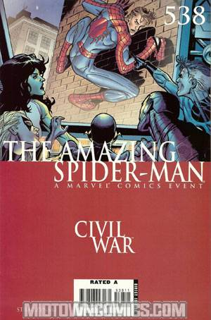 Amazing Spider-Man Vol 2 #538 Cover A Regular Ron Garney Cover (Civil War Tie-In)