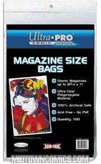 Ultra Pro Magazine Bags 100-pack