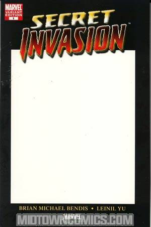 Secret Invasion #1 Blank Cover Variant