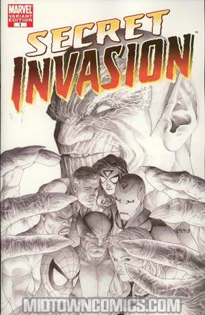 Secret Invasion #1 Cover H Incentive Steve McNiven Sketch Variant Cover
