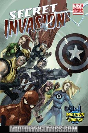 Secret Invasion #1 Cover D Exclusive Midtown Comics NYCC 2008 Leinil Francis Yu Variant Cover