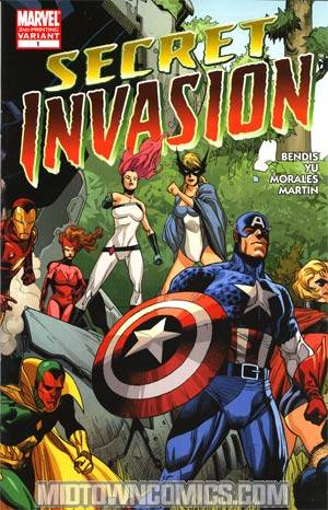Secret Invasion #1 2nd Ptg Leinil Francis Yu Variant Cover