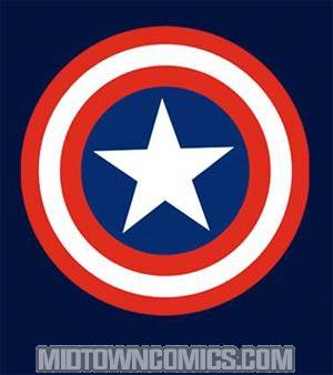 Captain America 80s Captain Symbol Navy T-Shirt Large