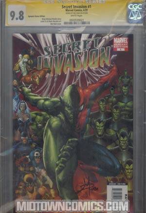Secret Invasion #1 DF Exclusive Mel Rubi Variant Cover CGC 9.8 Signature Series Signed By Mel Rubi