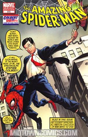Amazing Spider-Man Vol 2 #573 Variant Stephen Colbert Cover