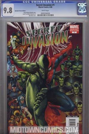 Secret Invasion #1 Cover N DF Exclusive Mel Rubi Variant Cover CGC 9.8