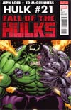 Hulk Vol 2 #21 2nd Ptg Ed McGuinness Variant Cover (Fall Of The Hulks Tie-In)