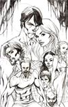 True Blood #1 Incentive J Scott Campbell Virgin Sketch Cover