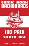 Silver Age Size Comic Book Boards 100-Pack (Acid-Free)