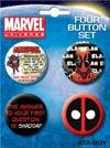 Deadpool 4-Button Set 2 (81961BT4)