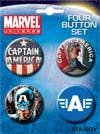 Marvel Comics Captain America Carded 4-Button Set (81800BT4)