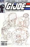 GI Joe A Real American Hero #167 Incentive Larry Hama Sketch Variant Cover