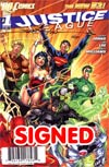 Justice League Vol 2 #1 DF Signed By Scott Williams