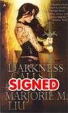 Darkness Calls Hunter Kiss Series #2 MMPB Signed By Marjorie Liu