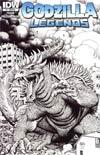 Godzilla Legends #1 Incentive Arthur Adams Sketch Cover
