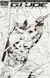 GI Joe Retaliation Movie Prequel #1 Incentive Salvador Navarro Sketch Cover