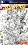 Justice League Vol 2 #7 Incentive Jim Lee Sketch Cover