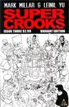 Supercrooks #3 Incentive Leinil Francis Yu Sketch Cover