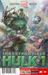 Indestructible Hulk #1 DF Signed By Mark Waid