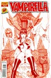 Vampirella Vol 4 #25 DF Exclusive Blood Red Risque Cover