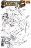 Damsels #1 Incentive J Scott Campbell Pencil Sketch Cover