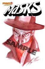 Masks #1 Incentive Alex Ross Hand-Painted Cover - Shadow - Customer Preorders