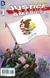 Justice League Of America Vol 3 #1 Variant Illinois Flag Cover