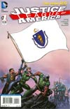 Justice League Of America Vol 3 #1 Variant Massaschusetts Flag Cover