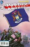 Justice League Of America Vol 3 #1 Variant Michigan Flag Cover