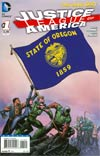 Justice League Of America Vol 3 #1 Variant Oregon Flag Cover