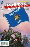 Justice League Of America Vol 3 #1 Variant Wisconsin Flag Cover