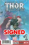 Thor God Of Thunder #1 DF Signed By Jason Aaron