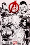 Avengers Vol 5 #1 Incentive Steve McNiven Sketch Cover
