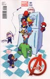 Avengers Vol 5 #1 Variant Skottie Young Baby Cover