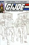 GI Joe A Real American Hero #185 Incentive Larry Hama Sketch Variant Cover