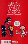New Avengers Vol 3 #1 Variant Skottie Young Baby Cover
