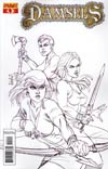 Damsels #4 Incentive Joseph Michael Linsner Sketch Cover