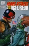 Mars Attacks KISS One Shot Incentive Mars Attacks Judge Dredd Variant Cover