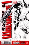 Savage Wolverine #1 Incentive Joe Quesada Sketch Cover